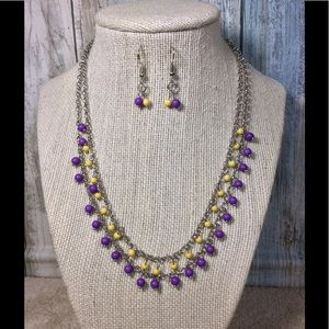 Paparazzi necklace in Yellow & Purple